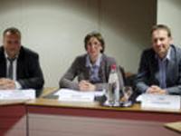 Guido Vaganée, Mieke Vandenbrande en Jan Fonderie